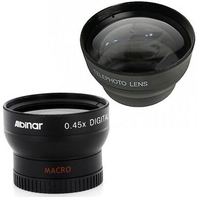 WIDE ANGLE + TELE LENS KIT 34mm FOR Hitachi DZ GX5080A for Camera from US Seller
