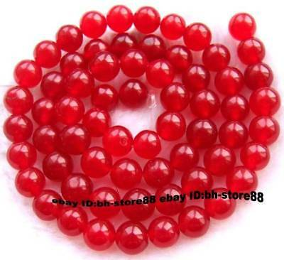 6mm Red Jade Round gemstone Beads 15''