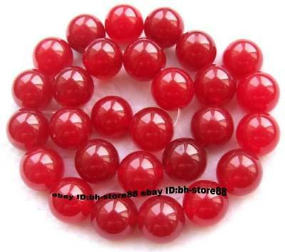 14mm Red Jade Round gemstone Beads 15''
