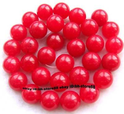 12mm Red Jade Round gemstone Beads 15''