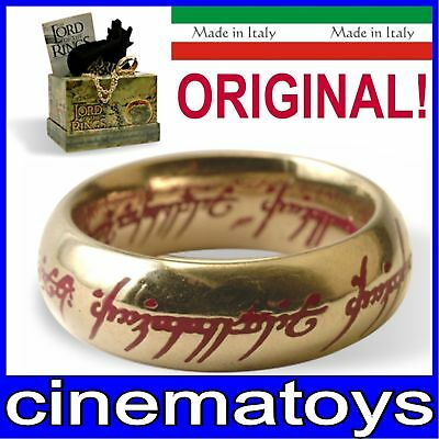 LORD OF THE RINGS THE ONE RING RED TEXT GOLD PLATED Il Signore Degli Anelli