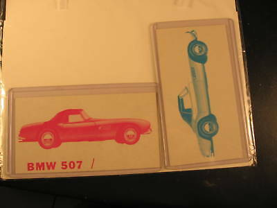 1961 Topps Sports Cars Proof Cards BMW 507