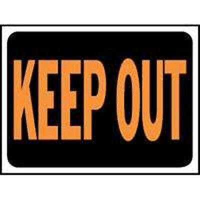 New Lot 10 Hy-Ko 3010 Keep Out Signs Plastic 9X12