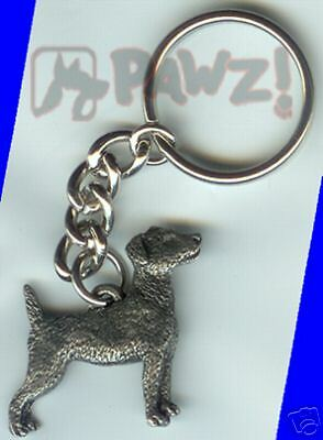 JACK RUSSELL Fine Pewter Keychain Key Chain Ring NEW