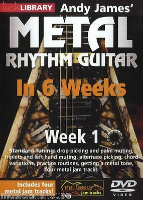 LICK LIBRARY Andy James METAL RHYTHM GUITAR In 6 WEEKS Learn to Play Tone DVD 1