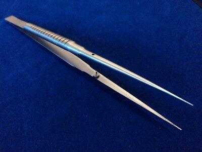 "MICRO FINE POINT SUTURE TYING FORCEPS 7"" With PLATFORM"