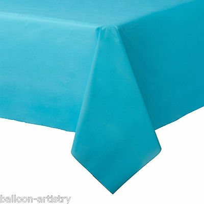 54x108in Caribbean Blue Plastic Tablecover Table Cover Cloth Wedding Catering