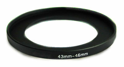 Step-up Camera lens adapter ring 43-46 43mm-46mm Anodized metal Black Brand NEW