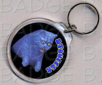 STOUFFER THE CAT round keyring - DOUBLE SIDED!