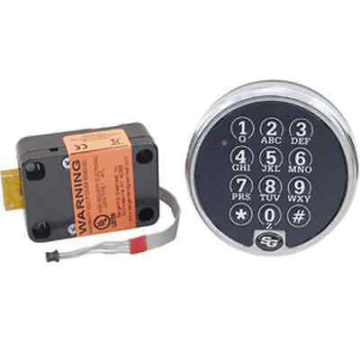 S&g 6120-305 Electronic Digital Safe Lock In Chrome