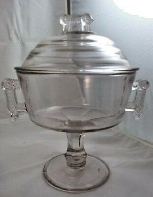 EAPG Wheel & Comma COVERED COMPOTE By Aetna Glass 1881