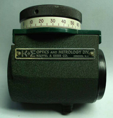 K&E Keuffel & Esser Optical Micrometer w Vernier Scale (71-1111)