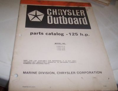 CHRYSLER 1981 125hp Outboards Parts Book