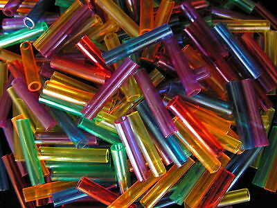200 COOL COLOR TUBE BEADS Bird Parrot Toy Parts Crafts