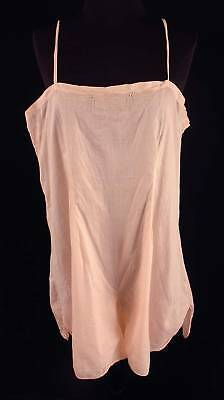 Plus Size French 1920's-1930's Pink Cotton Emb. Teddy