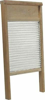 New Behrens Bwbg12 Large Galvanized Double Face Metal & Wood Washboard 12 X 24
