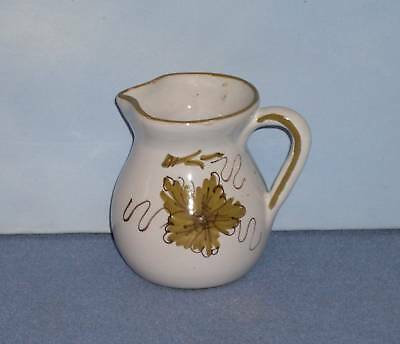 Sweet Italian Pottery Creamer/Pitcher - Green Floral
