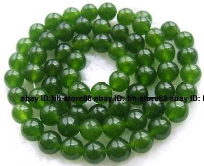 6mm Green Jade Round gemstone Beads 15''
