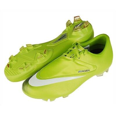 d5a54581b80d Nike Mercurial Glider 2011 FG Soccer Shoes Bright Cactus / White /Silver New