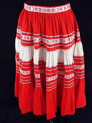 Vintage 1950's-60's Decorated Nat American Skirt Sz  7