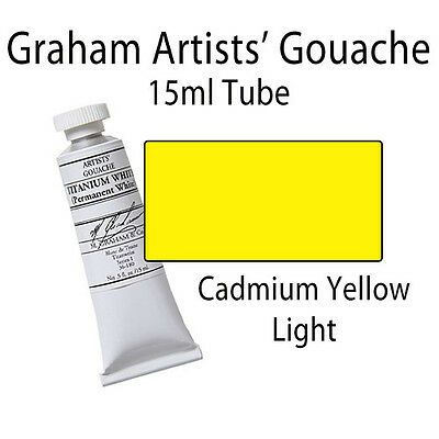 Graham Artists' Gouache 15ml Tube Cadmium Yellow Light 36-070