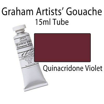 M. Graham Artists' Gouache Quinacridone Violet  15ml Tube 36-158