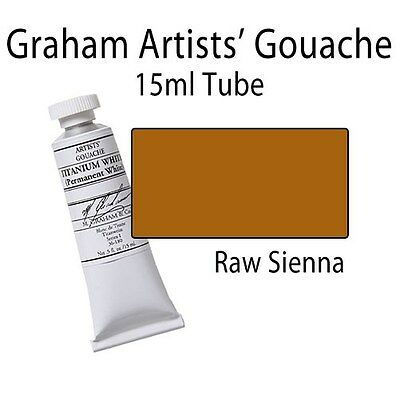 M. Graham Artists' Gouache Raw Sienna  15ml Tube 36-160