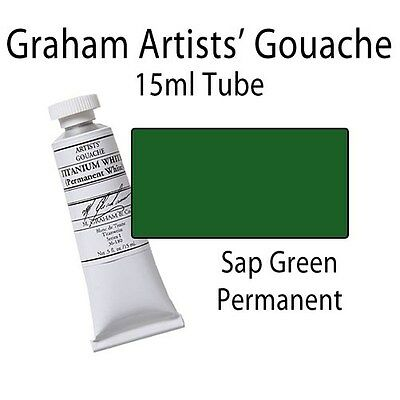 M. Graham Artists' Gouache Sap Green  15ml Tube 36-174