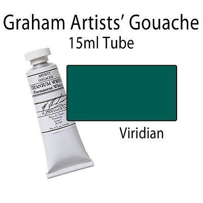 M. Graham Artists' Gouache Viridian  15ml Tube 36-195