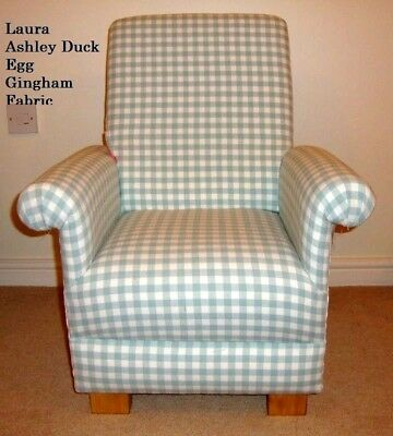 Pleasant Laura Ashley Duck Egg Gingham Childs Chair Bedroom Kids Unemploymentrelief Wooden Chair Designs For Living Room Unemploymentrelieforg