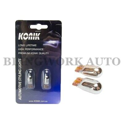 RARE CHROME !! T10 W5W NON LED Amber Indicator Signal Turn Flash Wedge bulbs