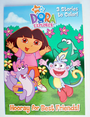 Dora The Explorer 3 Stories To Color Book NEW