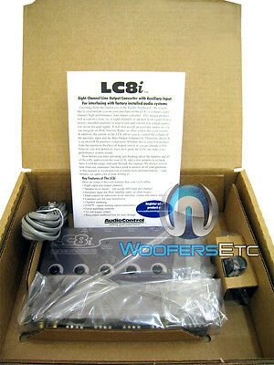 GREY AUDIOCONTROL LC8i 8 CH. LINE OUTPUT CONVERTER WORKS WITH ANY FACTORY STEREO