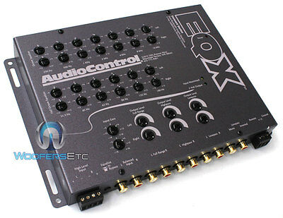 Audiocontrol Eqx Pre-Amp Two 13 Band Equalizer Car Audio Crossover Grey New