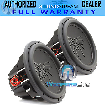 """(2) Soundstream T5.152 Pro Subs 15"""" 5200W Max Dual 2-Ohm Subwoofers Speakers New"""