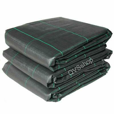 2M x 30M Heavy Duty 100gsm Black Woven Garden Weed Control Stop Fabric Sheets