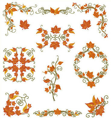 ABC DESIGNS Fall Motifs  Machine Embroidery Designs Set for5x7 hoop