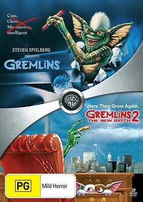 GREMLINS 1 AND 2 The New Batch =2-DVD Double Set SEALED (Region 4 Australia)