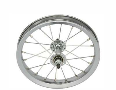 Bicycle Wheel 12 In Chrome Steel Made Heavy Duty Spokes
