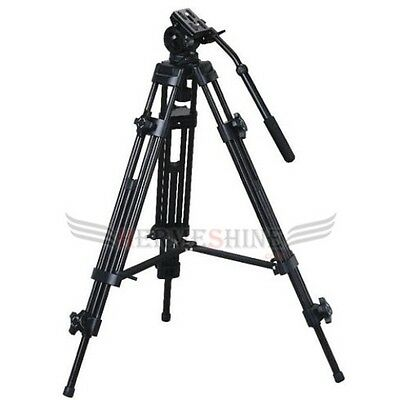 WF717 1.8m Professional Heavy Duty Video Camcorder Tripod with Fluid Drag Head