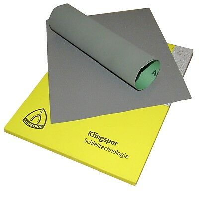 10 x WET AND DRY SANDPAPER MIXED 60 - 2500 GRIT SHEETS ASSORTED  KLINGSPOR