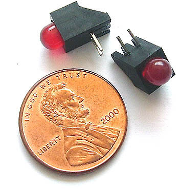 Red 5mm T1 3/4 LEDS in holder (100) LOT New