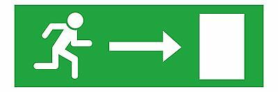 1x Emergency Exit Right Sticker