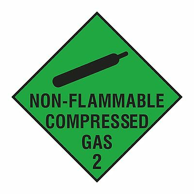 1x Non Flammable Compressed Gas Sticker