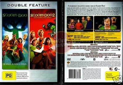 SCOOBY DOO 1 + 2 =THE MOVIE=MONSTERS UNLEASHED= NEW DVD (Region 4 Australia)