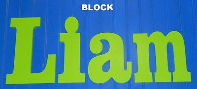"""Wooden Wall Letters 8"""" size Painted Wood Children Nursery Playroom Names Block"""
