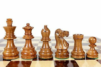"Golden Rose Wood Unique Staunton Wooden Chess Set Pieces King size 3"" Weighted"