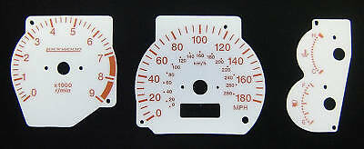 Lockwood dial kit Mitsubishi Evo 4, 5 & 6 White