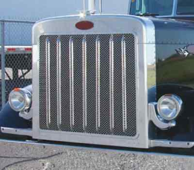 PETERBILT 379 SHORT Hood Front Grill w/ Oval Punchouts
