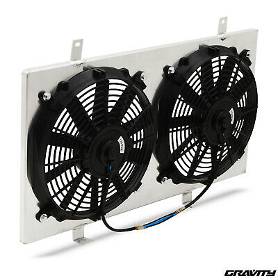 ALUMINIUM RADIATOR 80w COOLING FAN SHROUD FOR NISSAN 180sx S13 PS13 SR20DET 2.0